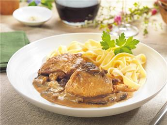Guinea-fowl Fricassee in Monbazillac Wine Sauce